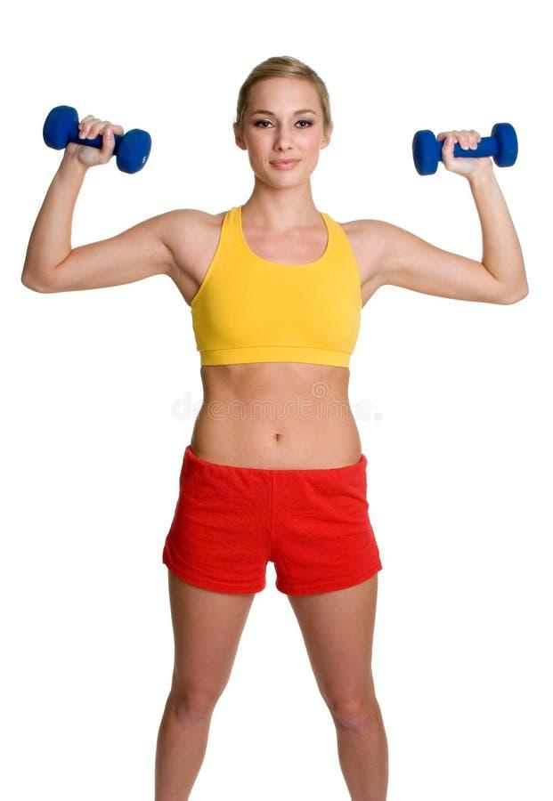 De gezonde Vrouw van de Training stock foto's