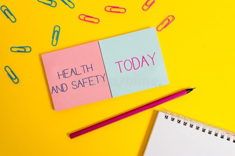 De Gezondheid en de Veiligheid van de handschrifttekst Het concept die procedures betekenen bedoelde ongeval in werkplaats Gekleu royalty-vrije stock afbeeldingen