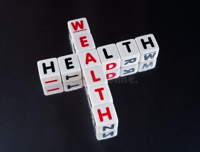 De gezondheid gaat met rijkdom royalty-vrije stock afbeelding