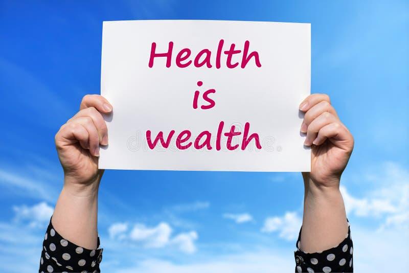 De gezondheid is rijkdom royalty-vrije stock fotografie