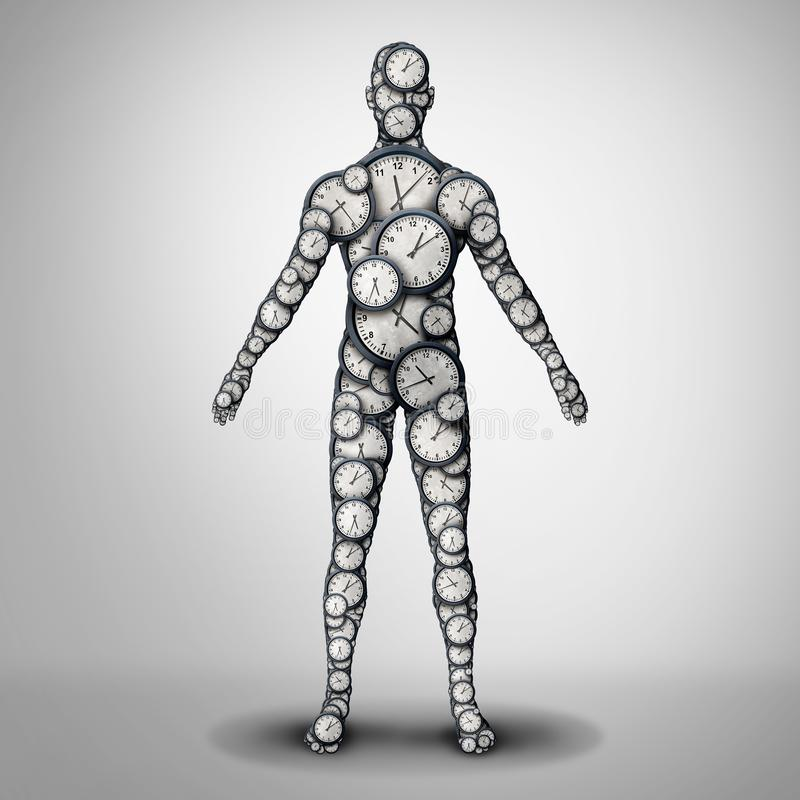 De Gezondheid van de lichaamsklok stock illustratie