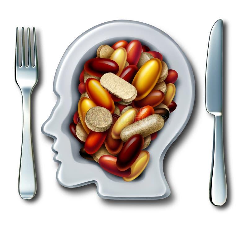 De gezondheid vult Dieetgeneeskunde aan stock illustratie