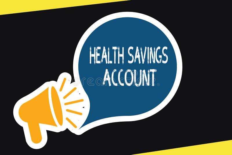 De Gezondheidsspaarrekening van de handschrifttekst Concept die gebruikers met Hoog Aftrekbaar Ziektekostenverzekeringbeleid bete stock illustratie