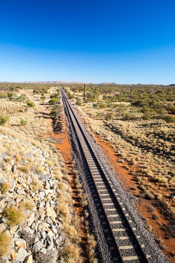 De Ghan-Spoorweg stock foto