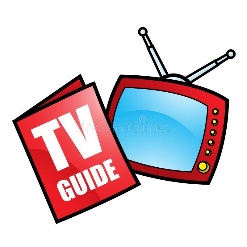 De Gids en de Televisie van TV stock illustratie