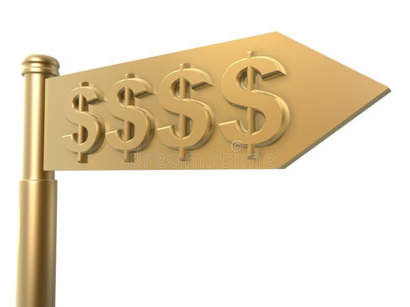 De gids van de dollar stock illustratie