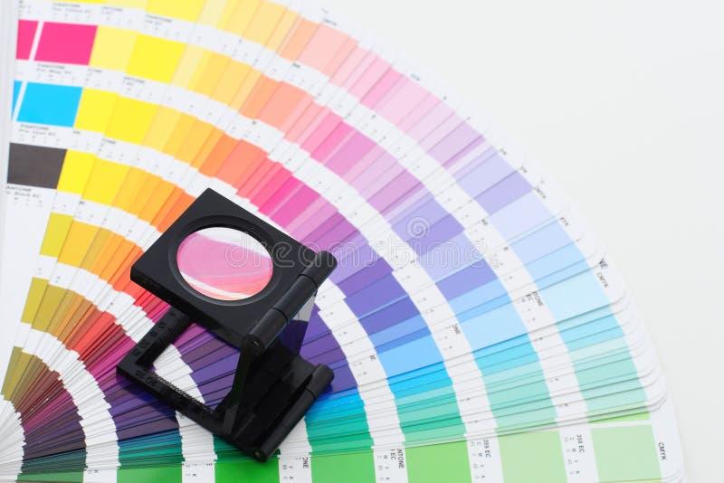 De gids van de kleur met lens royalty-vrije stock foto's