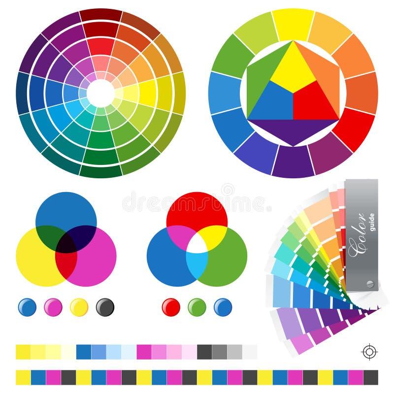 De gidsen van de kleur royalty-vrije illustratie