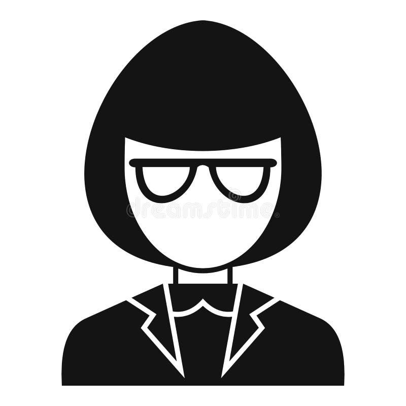 De gidspictogram van de museumvrouw, eenvoudige stijl stock illustratie