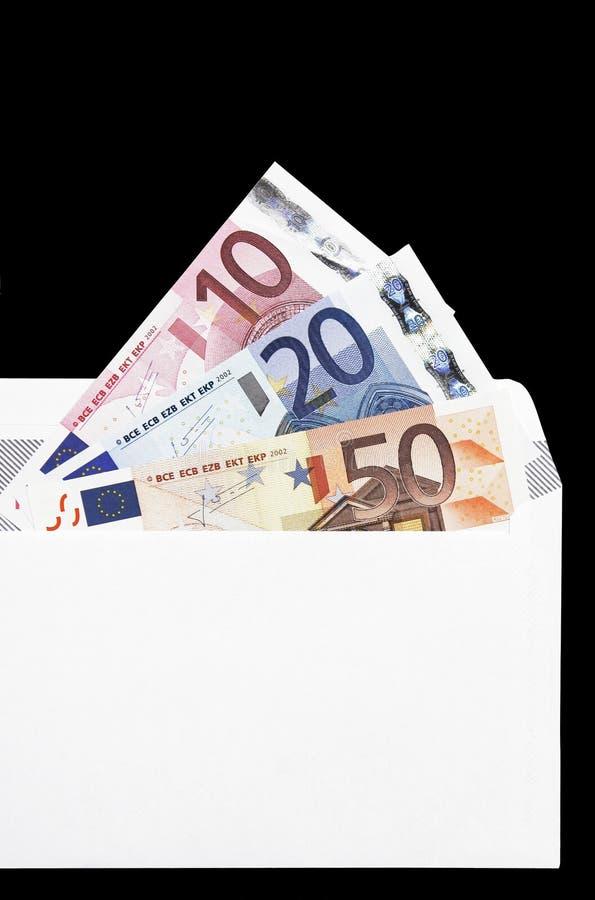 De Gift van het geld in Envelop stock foto