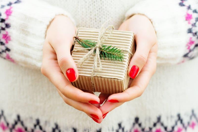 De gift van het nieuwjaar stock foto