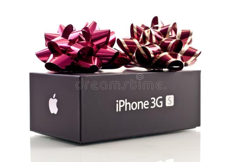 De Gift van iPhone3GS Kerstmis van de appel royalty-vrije stock foto's