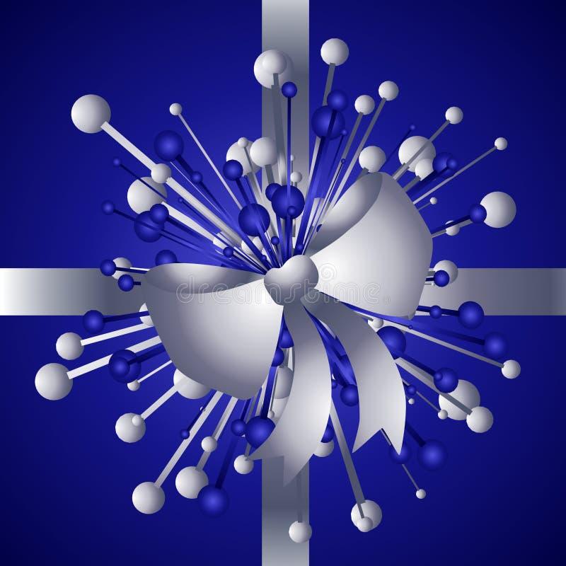 De Gift van Kerstmis met Achtergrond 2 van de Boog royalty-vrije illustratie