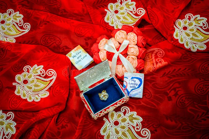 De Gift van de valentijnskaartendag voor de liefde van het leven royalty-vrije stock fotografie