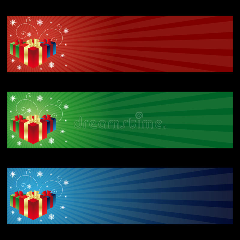 De giftbanners van Cristmas stock illustratie