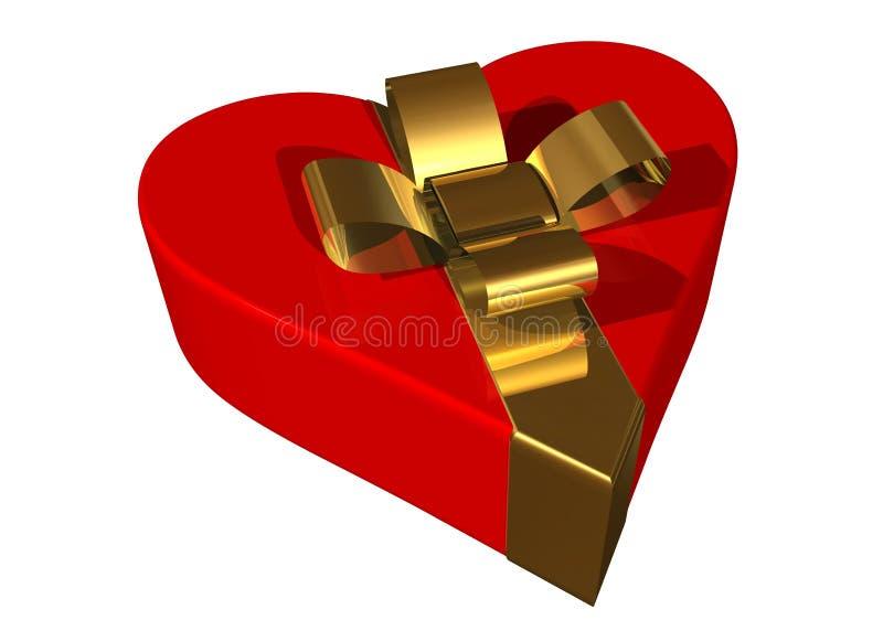 De giftdoos van de valentijnskaart vector illustratie