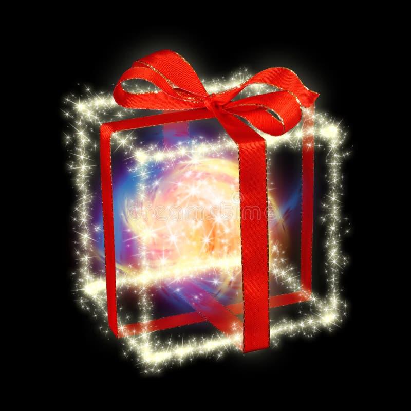 De giftdoos van Kerstmis royalty-vrije stock afbeelding