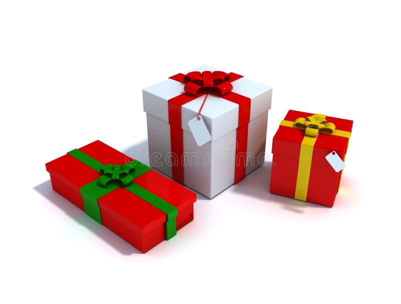 De giftdozen van Kerstmis stock foto