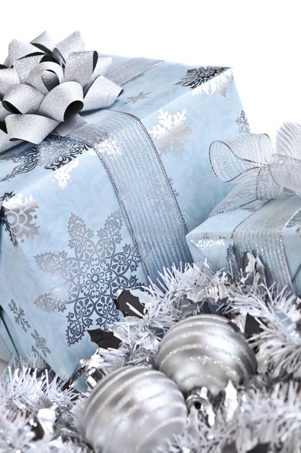De giftdozen van Kerstmis royalty-vrije stock afbeeldingen