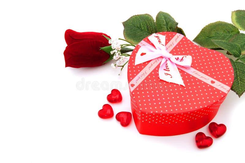 De giften van de Dag van valentijnskaarten stock fotografie