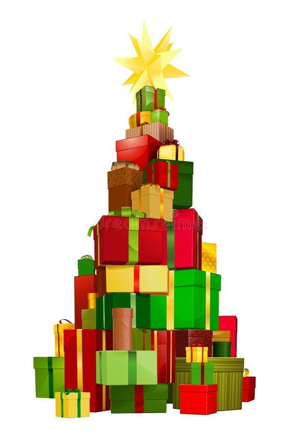 De giften van de kerstboom royalty-vrije illustratie