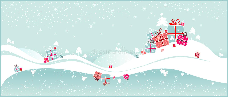 De giften van Kerstmis vector illustratie