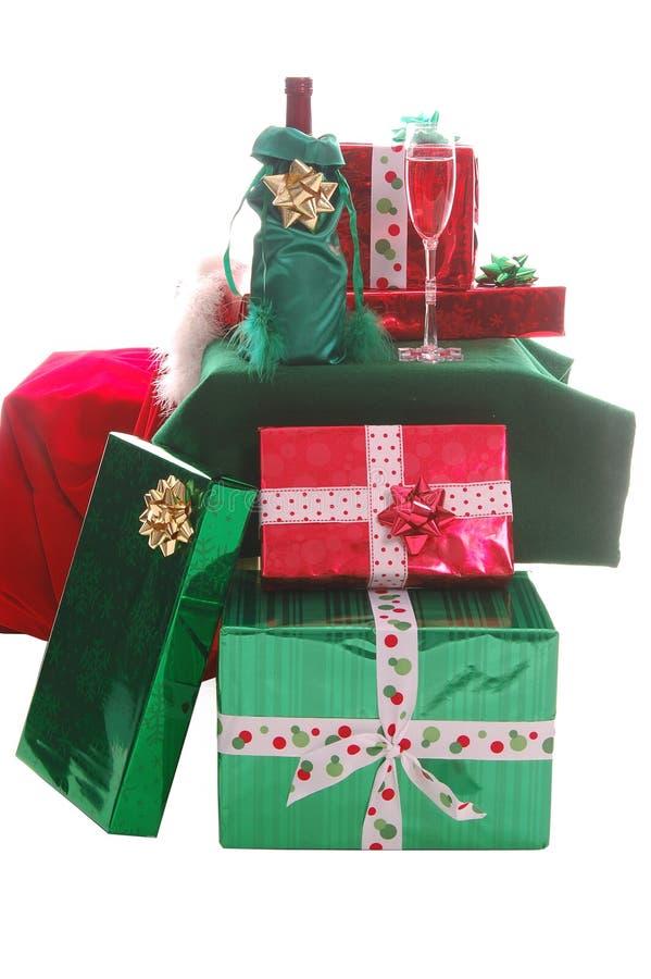Download De Giften van Kerstmis stock foto. Afbeelding bestaande uit partij - 297142