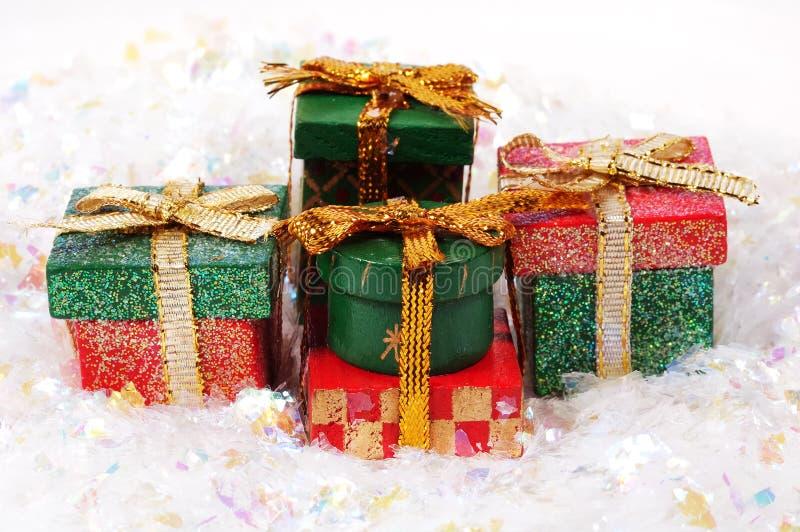 De Giften van Kerstmis royalty-vrije stock foto's