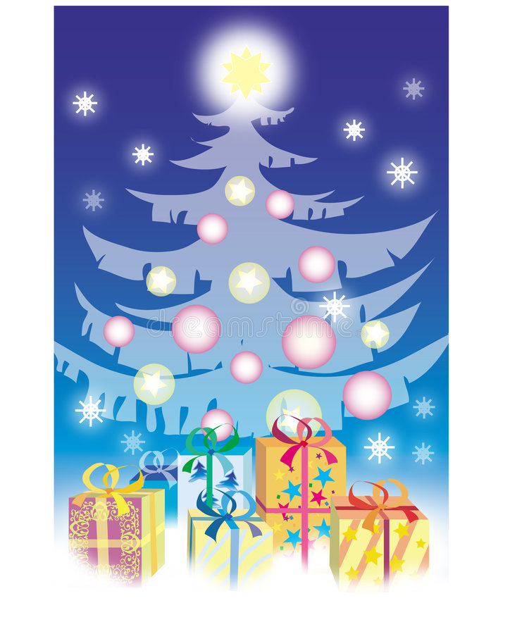 De giften van Kerstmis royalty-vrije illustratie