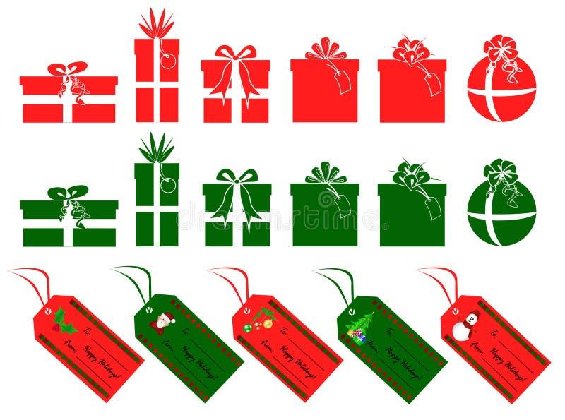 De giftenn markeringen van Kerstmis stock illustratie
