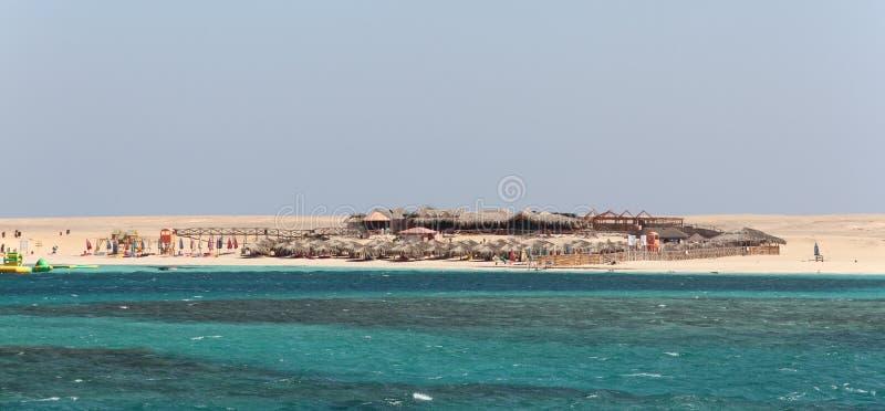 De Giftun-Eilanden in Rode Overzees voor de kust dichtbij Hurghada, stock afbeeldingen
