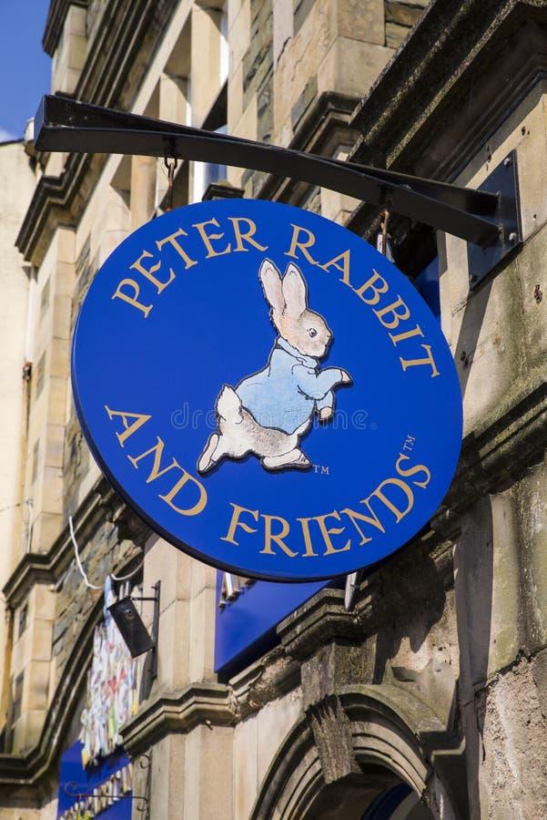 De Giftwinkel van Peter Rabbit en van Vrienden in Bowness stock fotografie