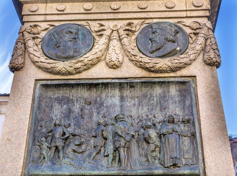 De& x27 de Giiordano Bruno Statue Campo d'exécution ; Fiori Rome Italie photos libres de droits