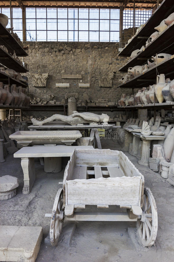 De gipsverbanden van Pompei stock foto