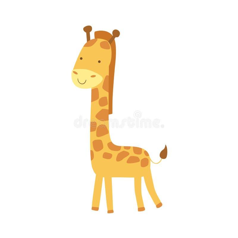De giraf stileerde Kinderachtige Tekening stock illustratie