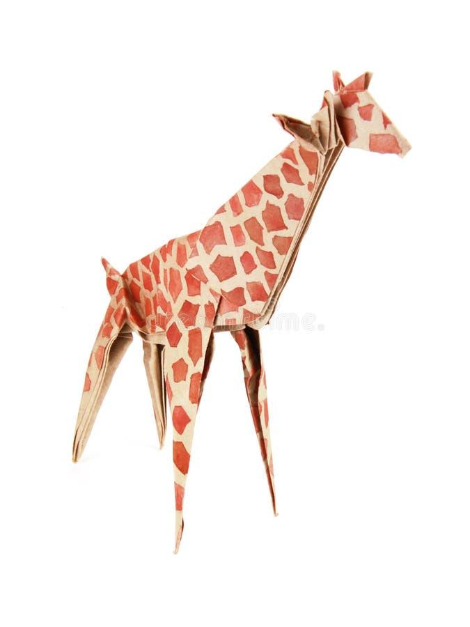 De giraf van de origami stock afbeeldingen