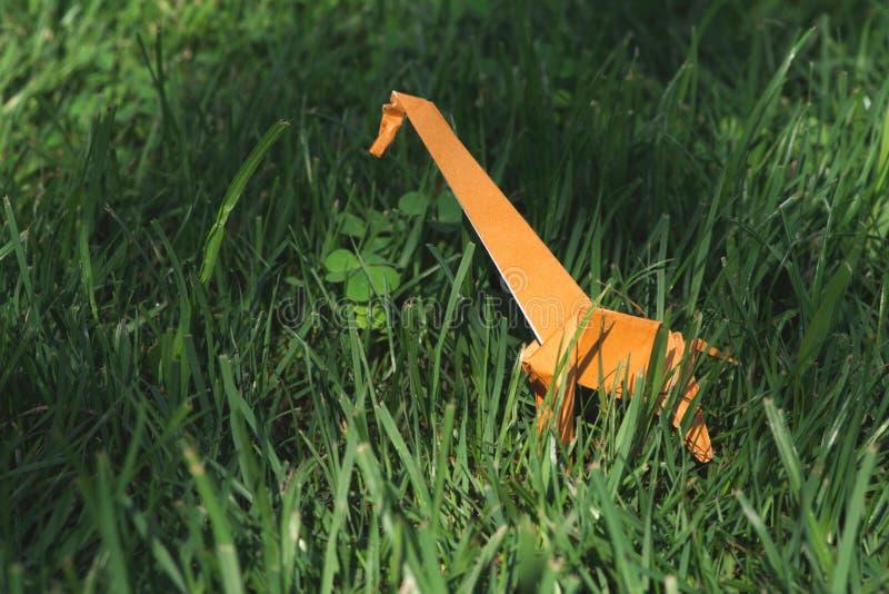 De giraf van de origami royalty-vrije stock afbeeldingen