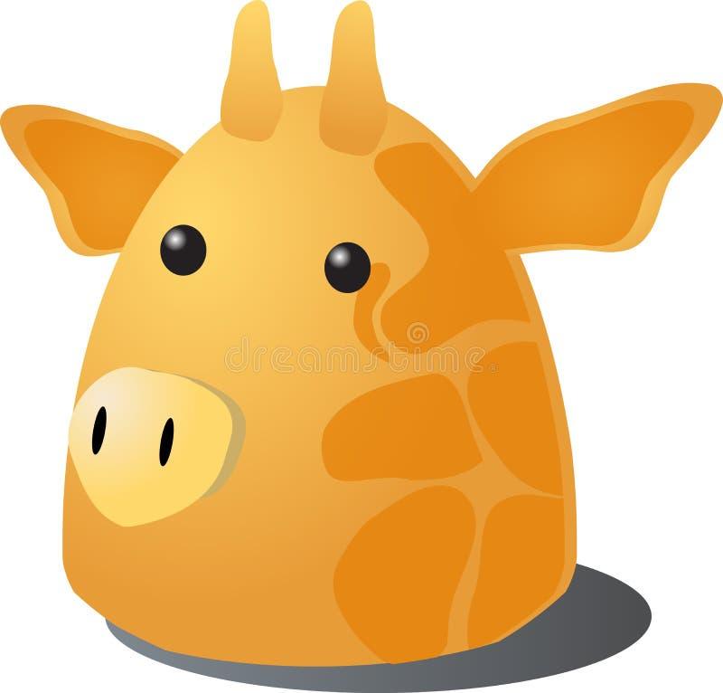 De giraf van het beeldverhaal stock illustratie