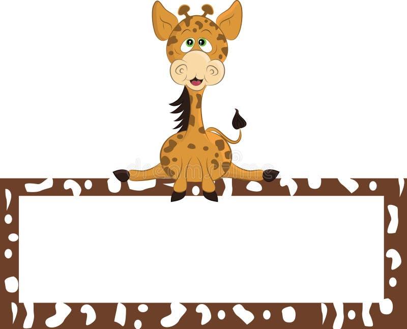 De giraf van het beeldverhaal stock afbeelding