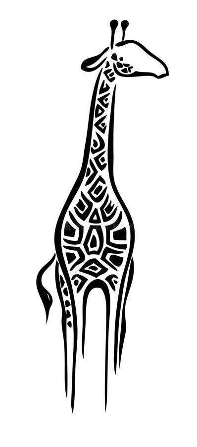 De giraf van het embleem royalty-vrije illustratie