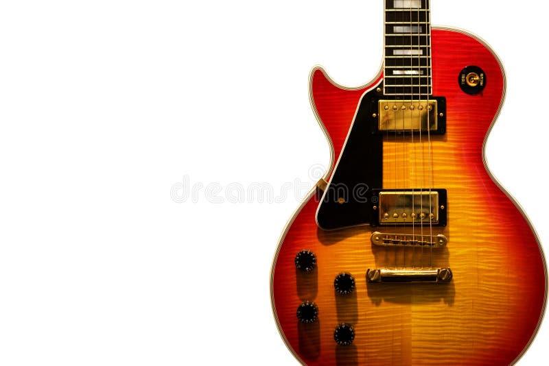 De gitaar van blauw royalty-vrije stock foto's