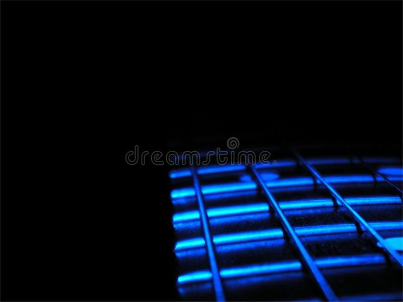 De Gitaar van blauw stock foto's