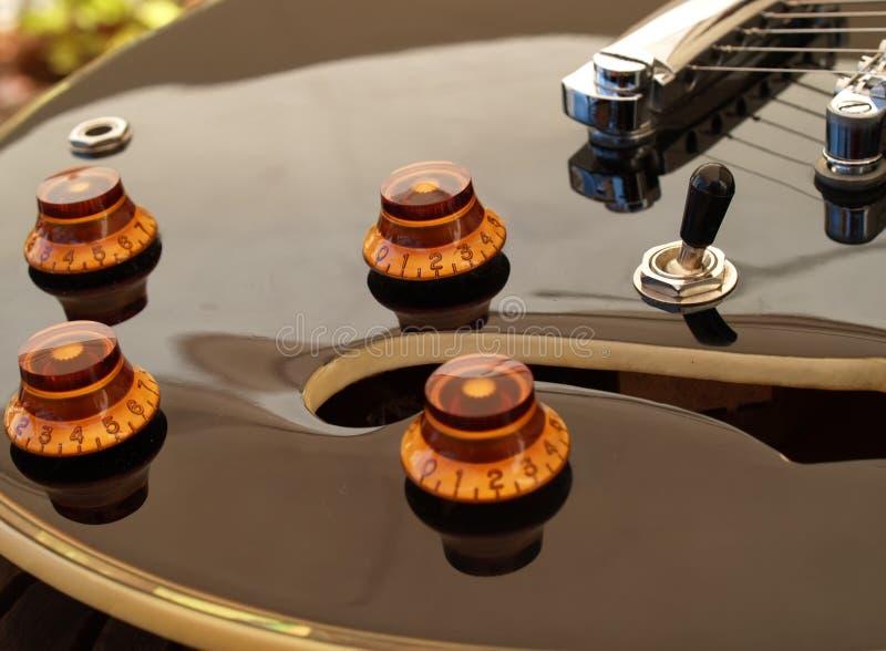 De gitaar van de jazz stock fotografie