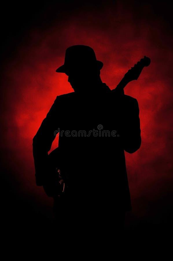De gitaar van de jazz royalty-vrije stock afbeeldingen