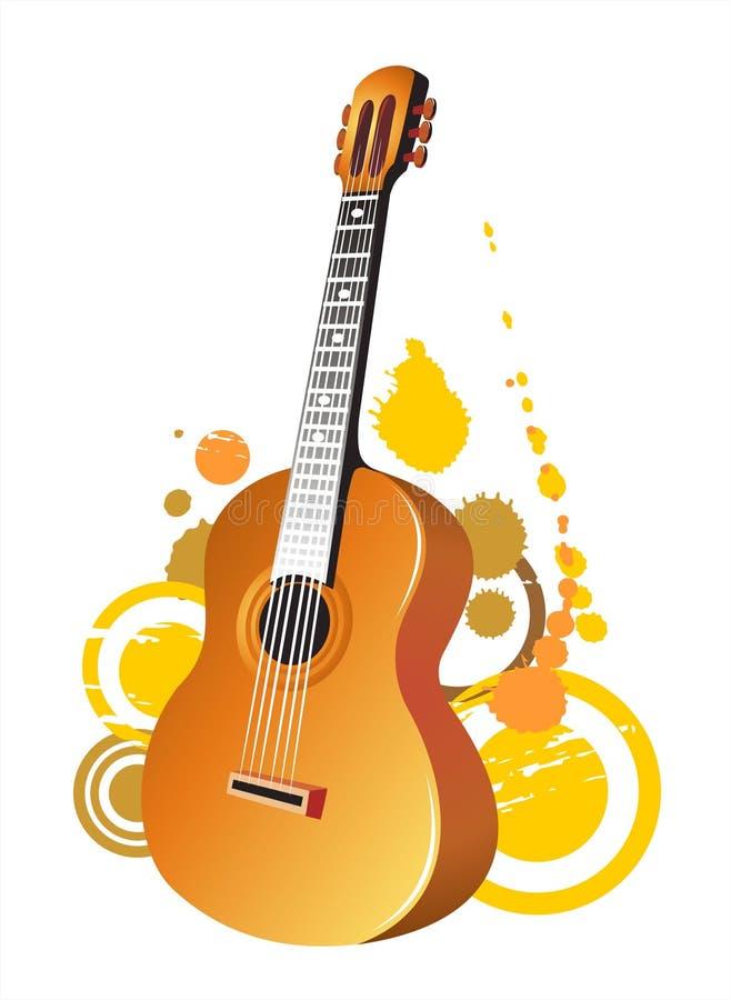 De gitaar van Grunge royalty-vrije illustratie
