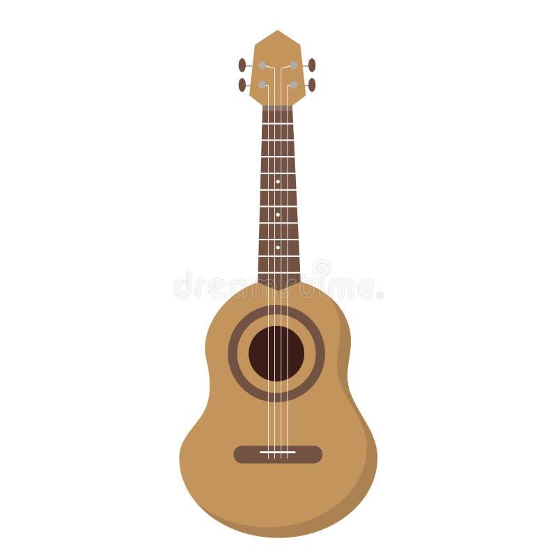 De gitaar van Hawaï Hawaiiaanse nationale musical stock illustratie