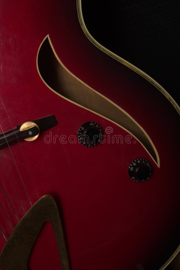 De gitaarkrommen van de jazz royalty-vrije stock afbeeldingen