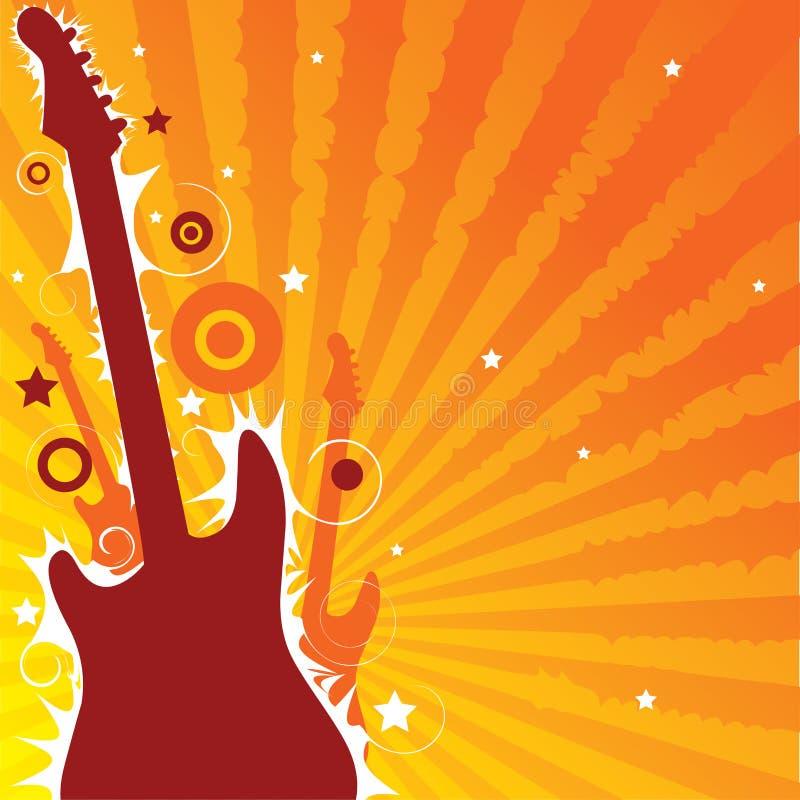 De gitaarspel van het leven stock illustratie
