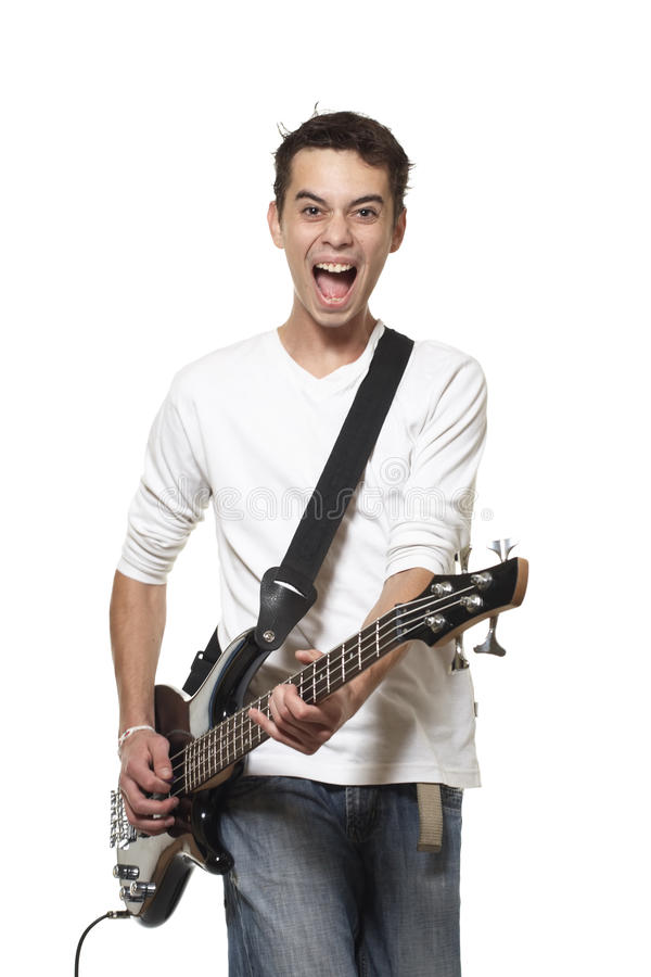 De gitarist. stock foto's