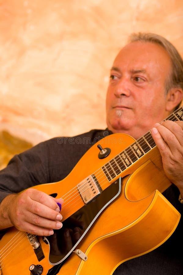 De gitarist van de jazz royalty-vrije stock foto